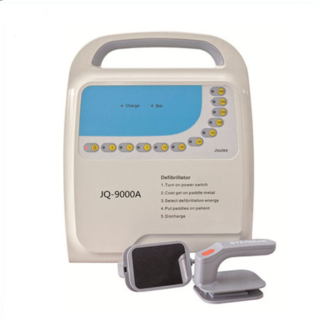 JQ-9000A Non-synchronizer outlife defibrillator monophasic with pads